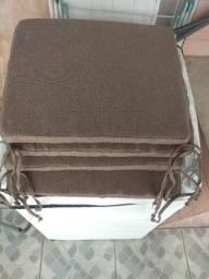 4 Almofadas em linho para assento