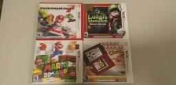 4 Jogos Nintendo 3DS, Mario 3D Land, Mario Kart, Luigi's Mansion e CW+