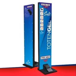 Totem Gel Pedal - Display Para Alcool Gel Higienizador Mãos - Linha Soft