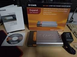 Switch D-Link DES-1008D / 8 Portas 10/100