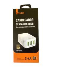 Carregador Turbo Type C Original Basike 3 USB