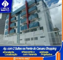 Apartamento de 02 suítes p/ Locação em frente ao Caruaru Shopping em Caruaru/PE