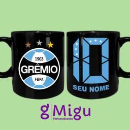 Caneca preta do Grêmio Caneca 100% preta do Grêmio personalizada / xícara copo caneca
