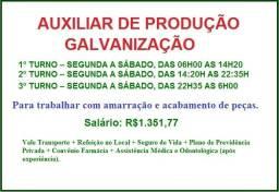 Auxiliar de Produção (Galvanização)