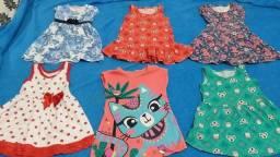 Lote infantil vestidos tam 2 anos