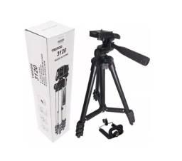 Tripé Universal De Alumínio Retrátil P/ Câmera Digital 1,00m