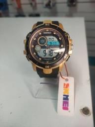 Relógio original a prova dágua digital e analógico skmei
