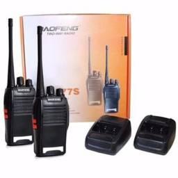 Kit Radio Comunicador Baofeng 777s Alcance 9km + Fone