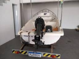Embarcação casco e motor 2017, analiso troc por carro