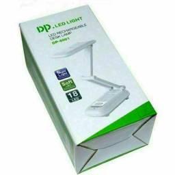 Luminária de Mesa Articulada 18 Leds Recarregável Abajur DP Led Light DP 6001