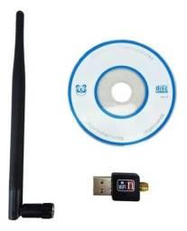 Adaptador Wireless Usb Wifi 1200mbps S Fio Lan B/g/n Antena, entrega em Goiânia gratis