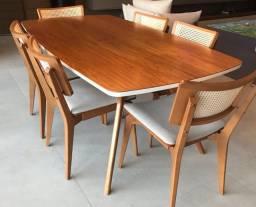 Mesa de jantar com 6 cadeiras Tok Stok