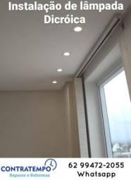 Instalação de lâmpadas Dicroica