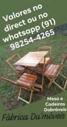 Jogo de mesa e cadeiras dobráveis bruto