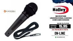 Microfone Unidirecional Kadosh Com Cabo Kds300