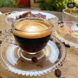 6 xícaras de café NOVAS (mesa posta)