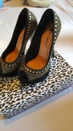 Lote de sapatos usados femininos nr 34/35