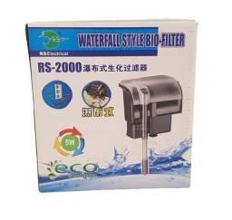 RS-2000 Filtro Externo Hang On  Aquarios 50 a 80 Litros 400 l/h