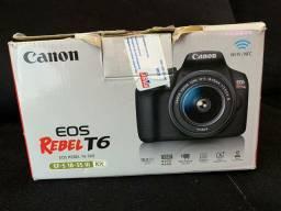 CANON EOS REBEL T6 + LENTE 18-55 mm + Cartão de memória Ultra Sandisk de 16Gb - USADA