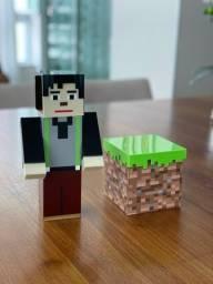 Boneco de acrílico Minecraft