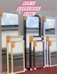 Kit Espelho Três Peças inclusas Entrega Grátis