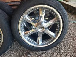 Rodas 20 pneus 45% Hilux, ranger, s10