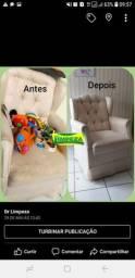 Higienização de estofados, tapeçarias e veículos