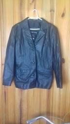 casaco de couro legítimo