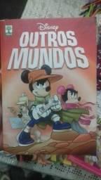 """Livro (Quadrinhos) """"Outros Mundos- Mickey"""" NOVO"""