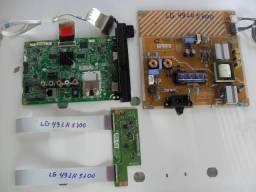 TV LG 49 LH5700 Placas saiu de tv com tela trincada