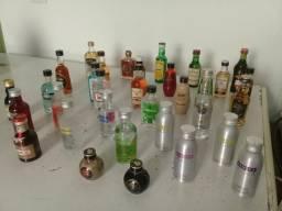 Coleção mini garrafas destilados