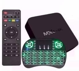 Tv Box Mxq-4K Configuração, Canais, Filmes, Series, Mini Teclado*, Entregamos, Dividimos