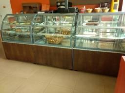 Vitrine para padaria, mercearia, supermercados .