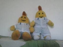 Bonecos de pelúcia Bananas de pijama B1 e B2