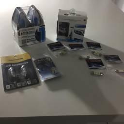 Lâmpadas super brancas H4 ,H11,placa ,teto,mala