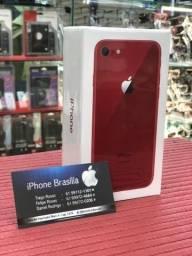 IPhone 8 Red Anatel, Novo, 1 ano de garantia ::Acc Cartao