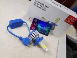 LED modelo H4 Super Brilho para o seu Farol - Novo modelo com Reator Externo - 1 PÇ - MOTO