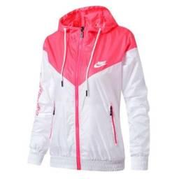 Jaqueta Nike Corta Vento Feminina Pronta Entrega Rosa e Preto com branco  azul 3a900a922e451