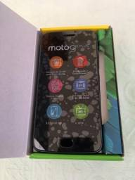 Moto G5 Plus Safira 32GB - Motorola XT1683 G 5 Fm Tv Dual Chip Celular 100% Zero Anatel