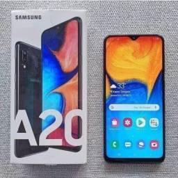 Samsung A20 Azul Octacore Tela Samoled Hd+Lacrado