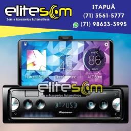 Aparelho Pioneer Sph-c10bt Smartphone Bluetooth Smart Sync instalado na Elite Som