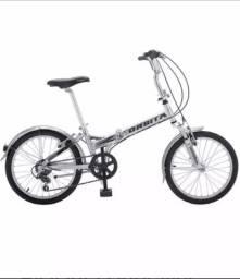 Bicicleta dobrável em alumínio
