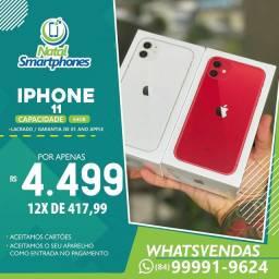 Iphone 11 LACRADO ( TODAS AS CORES 1 ANO DE GARANTIA ) COM 64GB ( ANATEL )