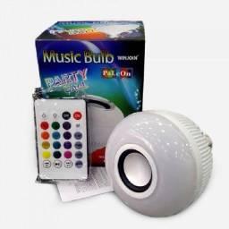 Lâmpada musical Bluetooth led Rgb com controle remoto
