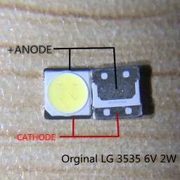 Led 6v. 2W 3535 com abas original TV LG