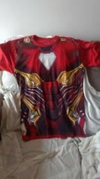 Camiseta homem de ferro Marvel piticas tamanho P