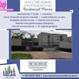 Vendo Belo Apartamento No Residencial Monza 2 Quartos