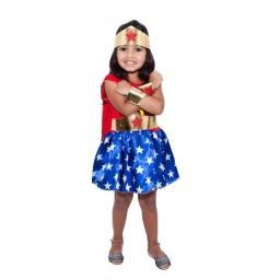 Fantasia Carnaval Mulher Maravilha Infantil Pronta Entrega