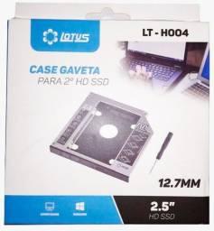 "Case Caddy Gaveta - HD/SSD Sata 2.5"" - NOVO"