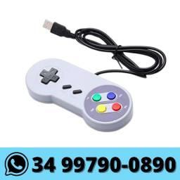 Controle Usb Super Nintendo Snes Jogos Emulador Pc